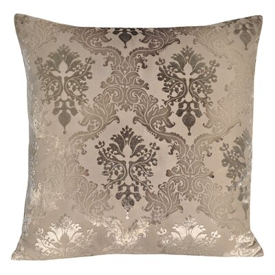 Brocade Velvet Pillow Color: Dove, Size: 22 H x 22 W x 3 D