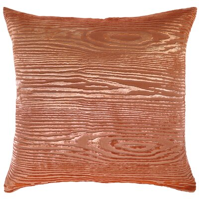Woodgrain Velvet Throw Pillow Color: Mango, Size: 22 H x 22 W x 3 D