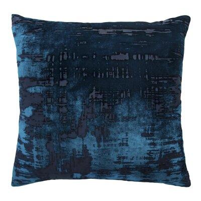 Brushstroke Velvet Throw Pillow Color: Cobalt Black