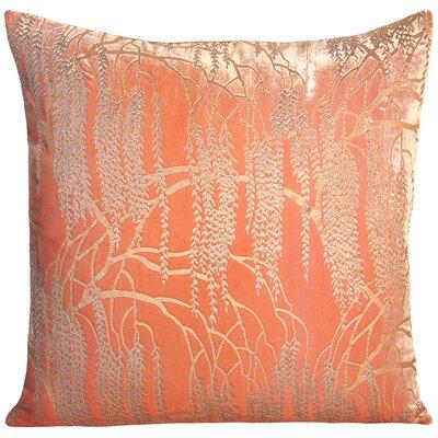Willow Velvet Throw Pillow Color: Mango, Size: 22 H x 22 W x 3 D