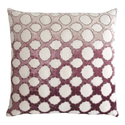 Fretwork Appliqued Linen Pillow Color: Wisteria