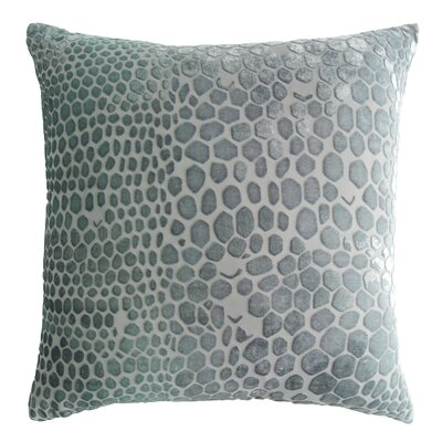 Snakeskin Throw Pillow Color: Jade, Size: 22 H x 22 W x 3 D