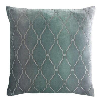 Arches Velvet Pillow Color: Jade, Size: 22 H x 22 W x 3 D
