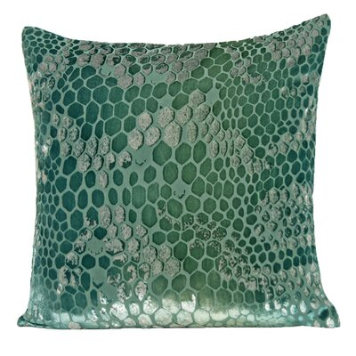 Snakekin Velvet Throw Pillow Color: Emerald