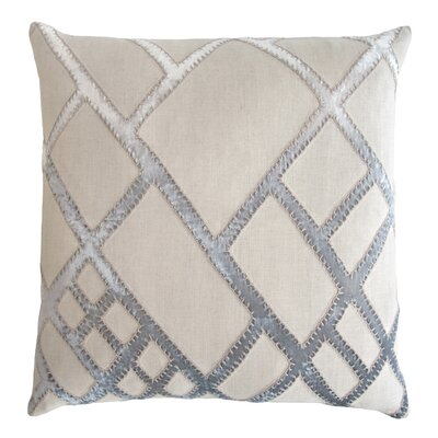Net Appliqued Linen Pillow Color: Seaglass