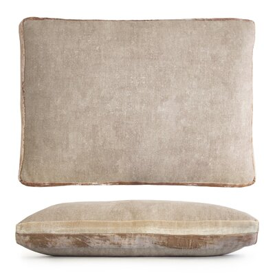 Double Tuxedo Lumbar Pillow Color: Nickel