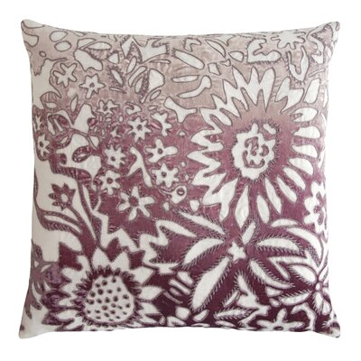Garland Appliqued Linen Throw Pillow Color: Wisteria