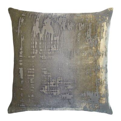 Brushstroke Velvet Throw Pillow Color: Nickel
