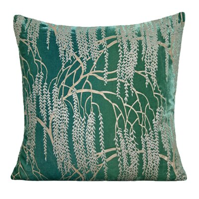Willow Velvet Throw Pillow Color: Emerald, Size: 22 H x 22 W x 3 D