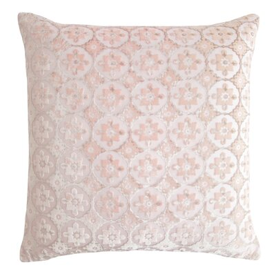 Small Moroccan Velvet Pillow Color: Blush, Size: 22 H x 22 W x 3 D