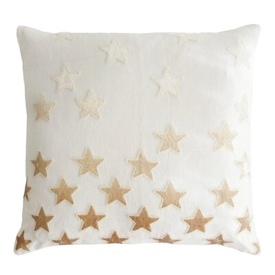 Stars Appliqued Linen Pillow Color: Nickel