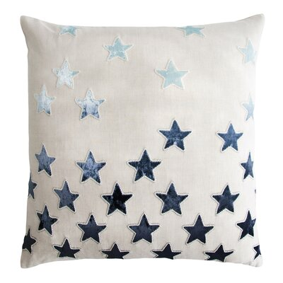 Stars Appliqued Linen Pillow Color: Twilight
