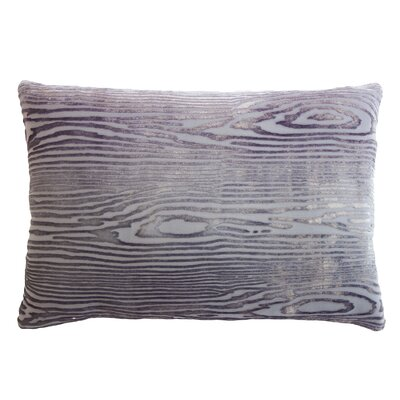 Woodgrain Velvet Lumbar Pillow Color: Aubergine