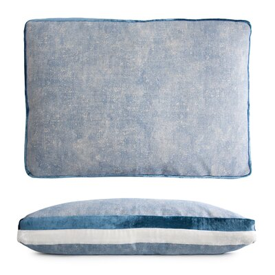 Double Tuxedo Lumbar Pillow Color: Azul