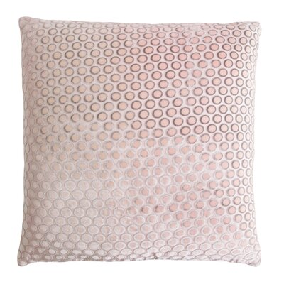 Dots Velvet Pillow Color: Blush, Size: 22 H x 22 W x 3 D