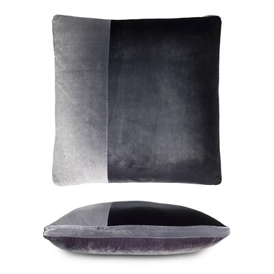 Color Block Velvet Pillow Color: Aubergine