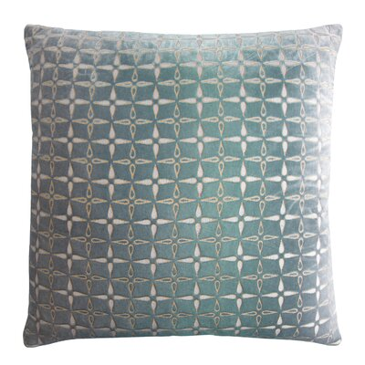 Metallic Petals Velvet Pillow Color: Jade