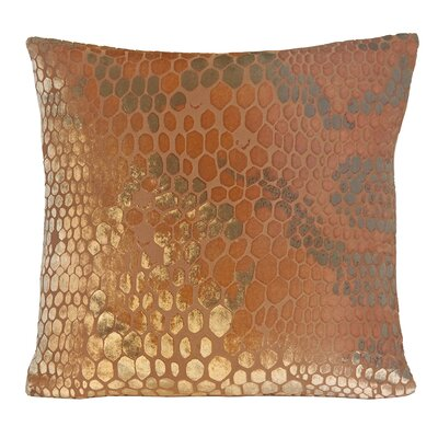 Snakeskin Throw Pillow Color: Mango, Size: 22 H x 22 W x 3 D