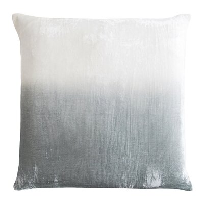 Dip Dye Velvet Pillow Color: Sage/White