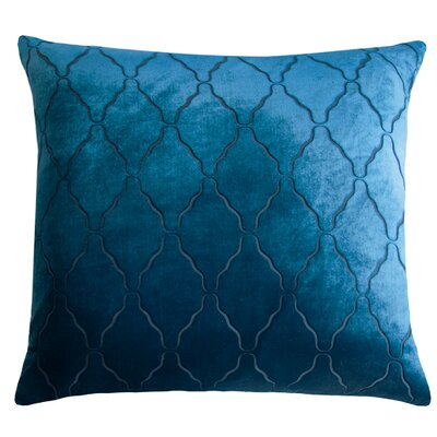 Arches Velvet Pillow Color: Cobalt Black, Size: 22 H x 22 W x 3 D