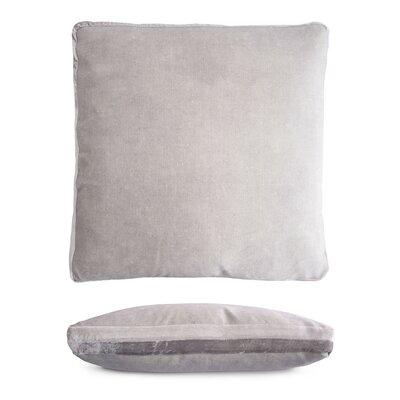 Double Tuxedo Pillow Color: Silver