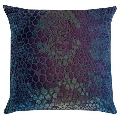 Snakeskin Throw Pillow Color: Peacock, Size: 22 H x 22 W x 3 D