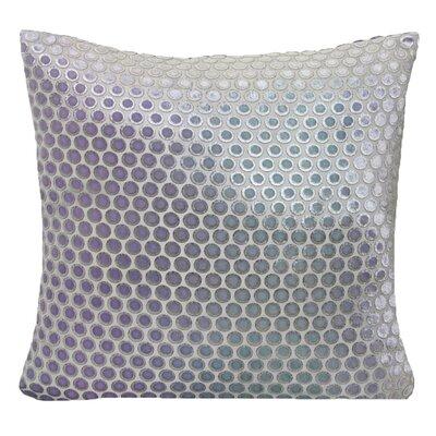 Dots Velvet Pillow Color: Cornflower, Size: 22 H x 22 W x 3 D