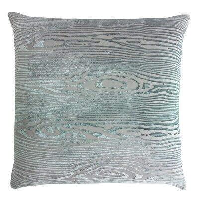 Woodgrain Velvet Throw Pillow Color: Jade, Size: 22 H x 22 W x 3 D