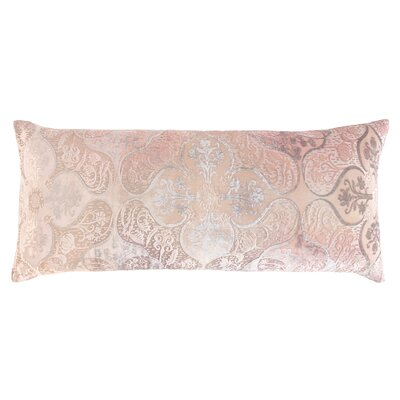 Persian Velvet Large Boudoir Pillow Color: Blush, Size: 16 x 36