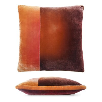 Color Block Velvet Pillow Color: Wildberry