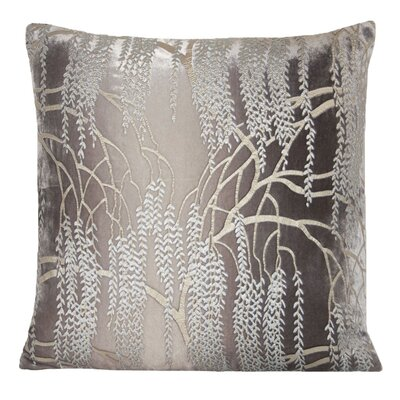Willow Velvet Throw Pillow Color: Dove, Size: 22 H x 22 W x 3 D