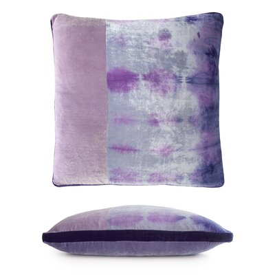 Color Block Velvet Pillow Color: Cornflower