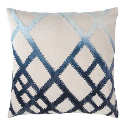 Net Appliqued Linen Pillow Color: Twilight