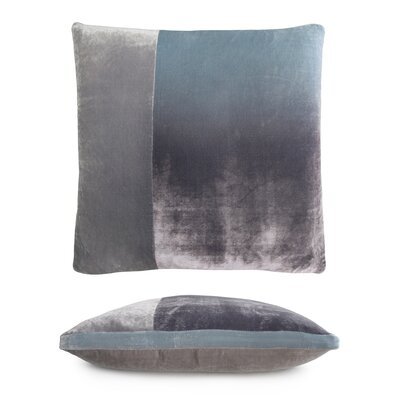 Color Block Velvet Pillow Color: Robins Egg