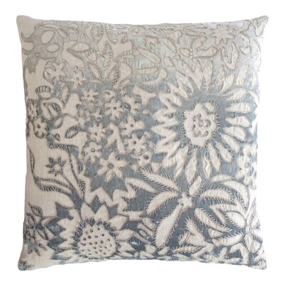 Garland Appliqued Linen Throw Pillow Color: Seaglass