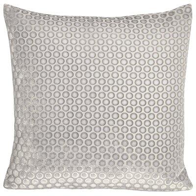 Dots Velvet Pillow Color: White, Size: 22 H x 22 W x 3 D