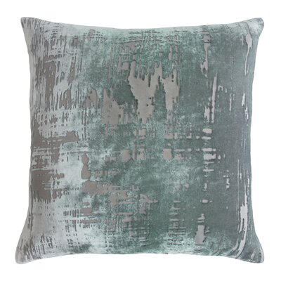 Brushstroke Velvet Throw Pillow Color: Jade