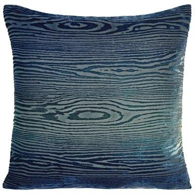 Woodgrain Velvet Throw Pillow Color: Shark, Size: 22 H x 22 W x 3 D