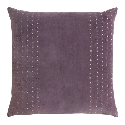 Stripe Stitched Cotton Velvet Pillow Color: Wisteria