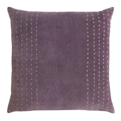 Stripe Stitched Cotton Velvet Pillow Color: Wisteria