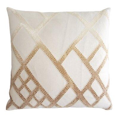 Net Appliqued Linen Pillow Color: Nickel