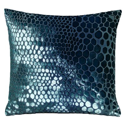 Snakekin Velvet Throw Pillow Color: Shark