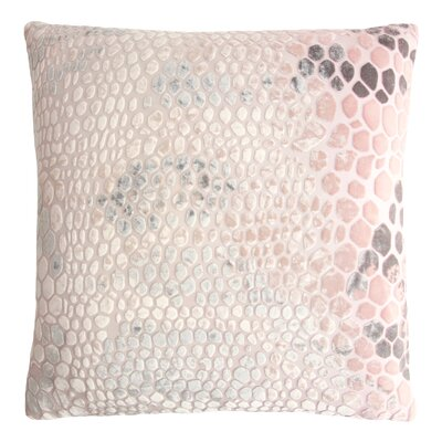 Snakeskin Throw Pillow Color: Blush