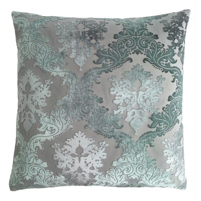 Brocade Velvet Pillow Color: Jade, Size: 22 H x 22 W x 3 D