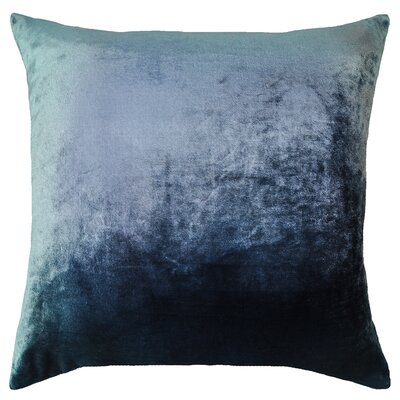 Ombre Velvet Throw Pillow Color: Shark