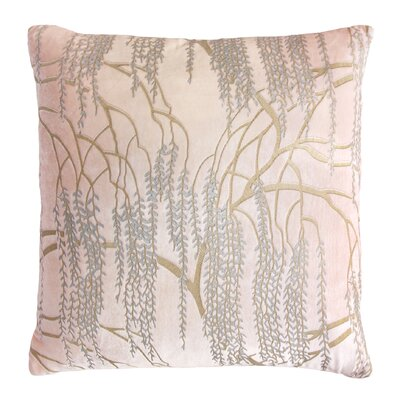 Willow Velvet Throw Pillow Color: Blush, Size: 22 H x 22 W x 3 D