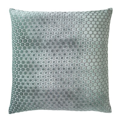 Dots Velvet Pillow Color: Jade, Size: 22 H x 22 W x 3 D