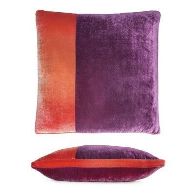 Color Block Velvet Pillow Color: Raspberry