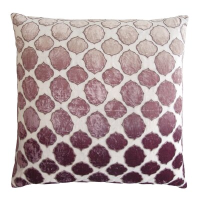 Tile Appliqued Linen Throw Pillow Color: Wisteria