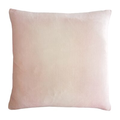 Ombre Velvet Throw Pillow Color: Blush